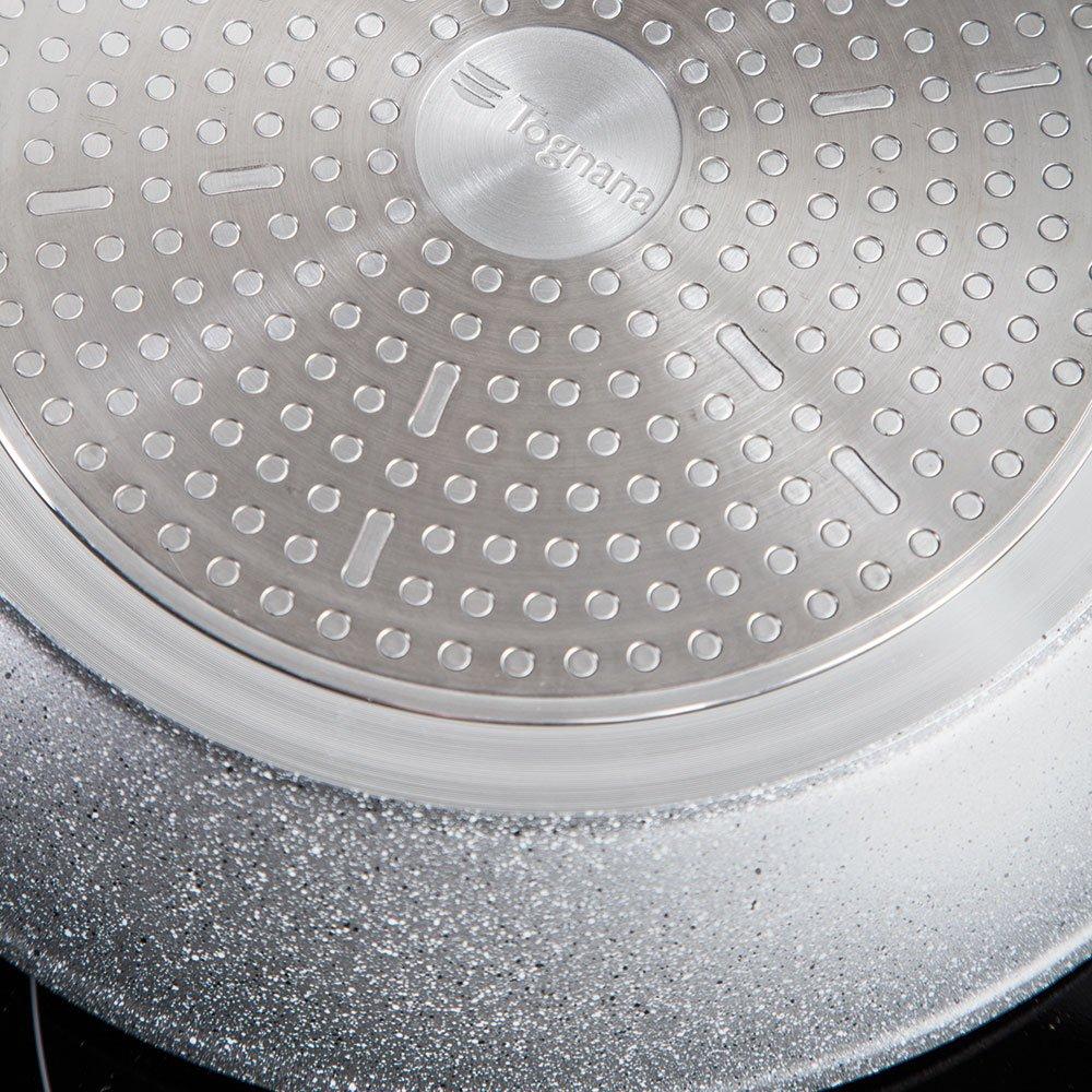 Aluminium TOGNANA wi758cramnf Saucepan Cr/êpe Pan Mythos Grey Marble