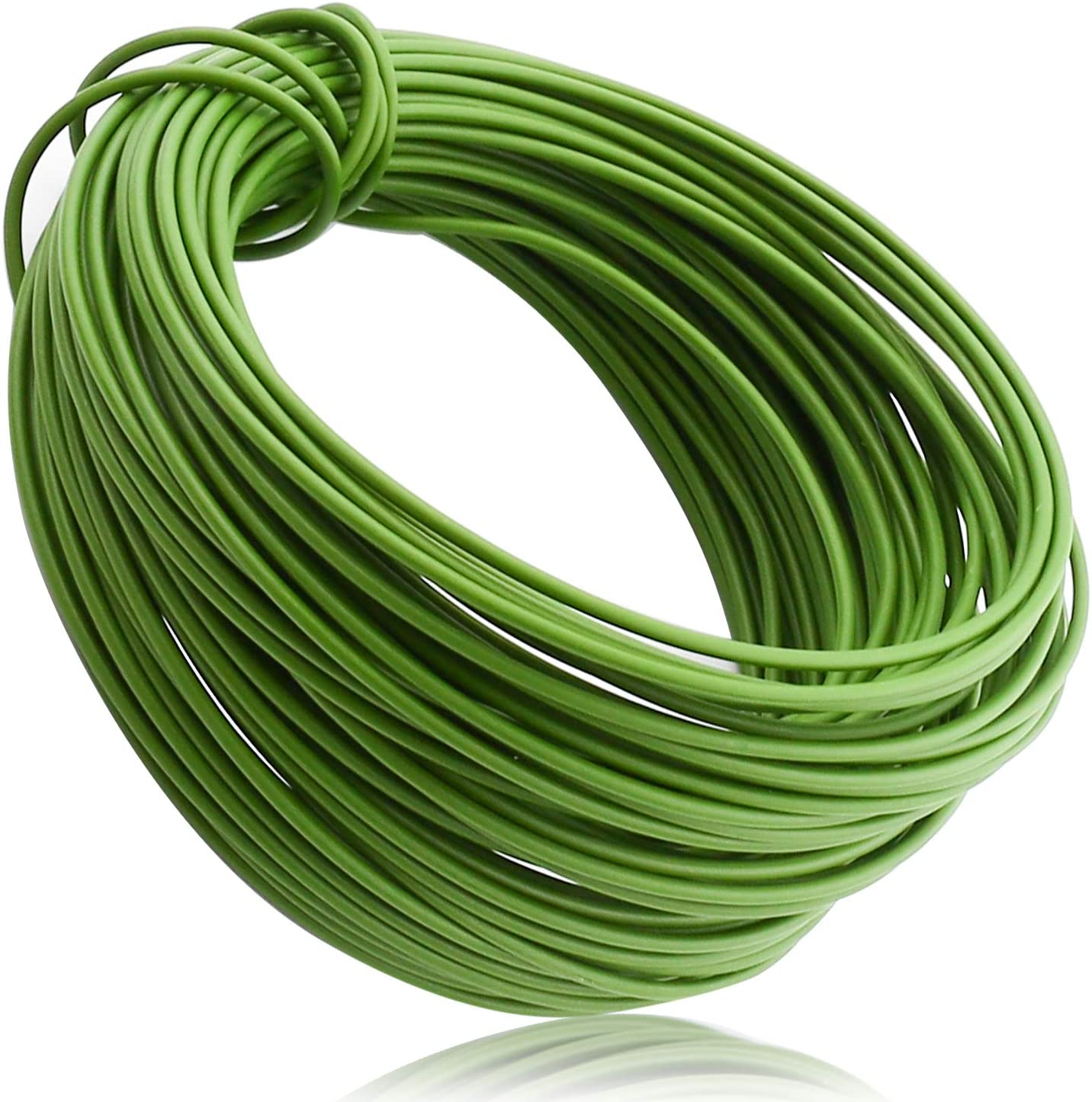 Plant Soft Ties 65.6 Feet, All-Purpose Garden Wire Ties, Green Coated Twist Plant Ties, Green Plant Ties, Plant Twist Ties for Plant Support, Home & Office