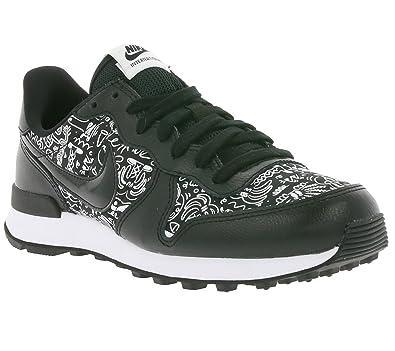 Nike Women's W Internationalist Print Running Shoes, Black (Black-White),  8.5