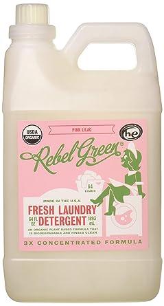 Rebel Green USDA - Detergente líquido orgánico para la colada ...