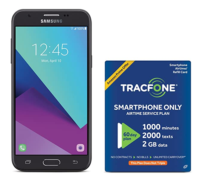 Use Your Cellphone To Text 10 To >> Amazon Com Tracfone Samsung Galaxy J3 Luna Pro 4g Lte Prepaid