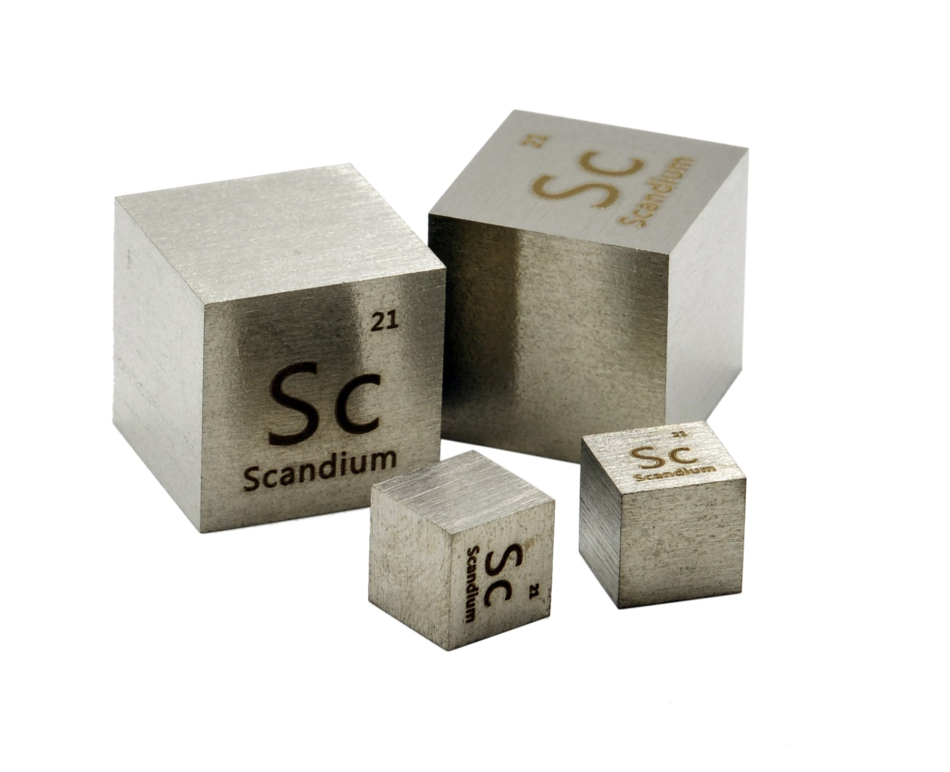 20mm Scandium Metal Density Cube 99.9% Pure