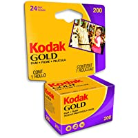 Kodak GOLD 200 Color Negative Film (35mm Roll Film, 24 Exposures)- 6034185, Yellow/red