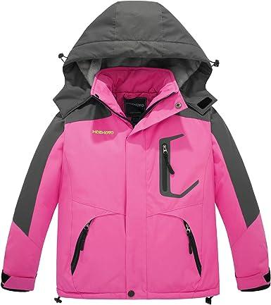 ZSHOW Girls Mountain Ski Jacket Waterproof Warm Fleece Lined Winter Rain Coat