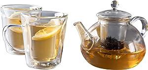 Rivaldi Oriental Tea Set, Softened Glass, Transparent