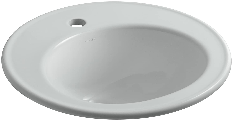 KOHLER K-2202-1-47 Brookline Self-Rimming Bathroom Sink Almond