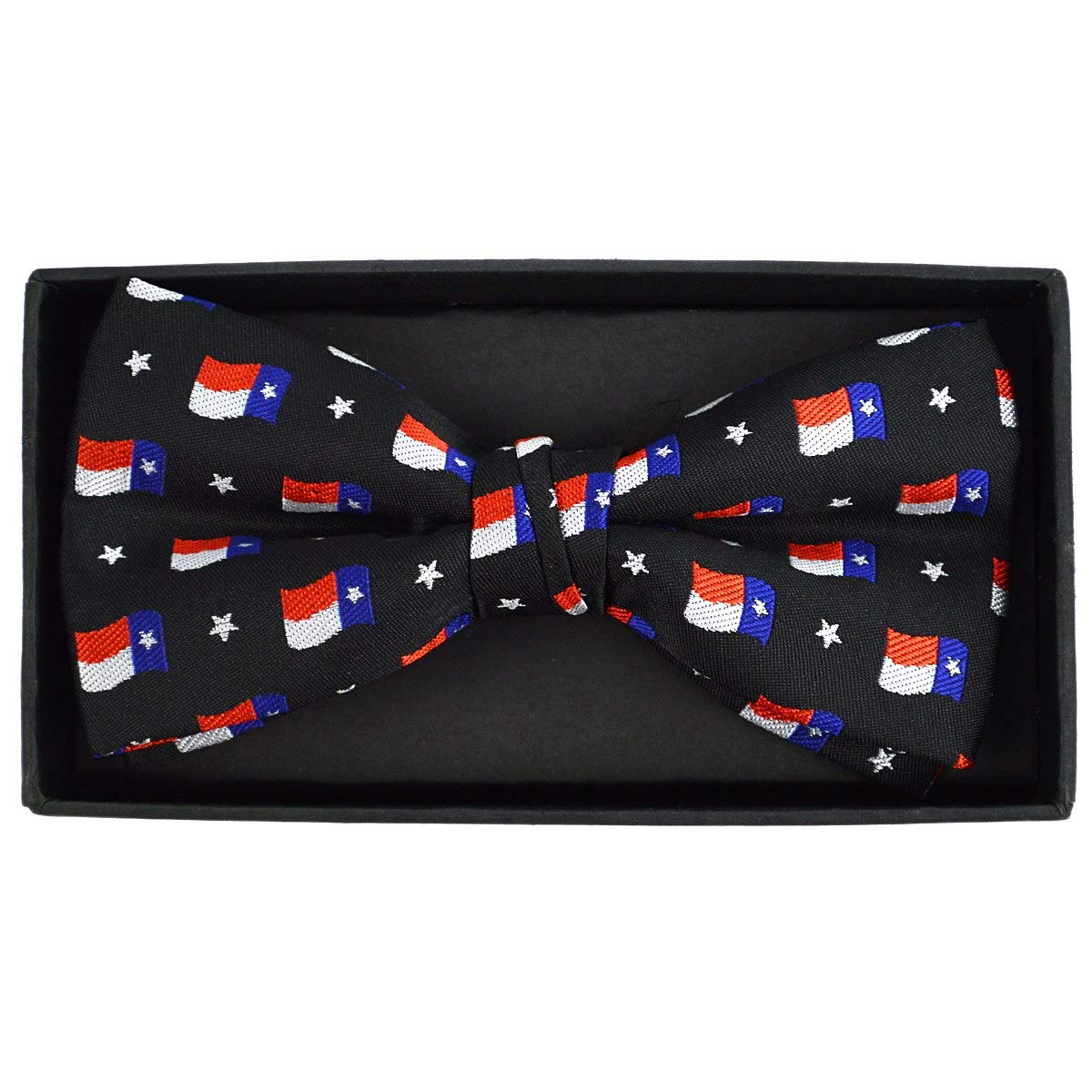 Urban-Peacock Mens Banded Bow Tie with Gift Box