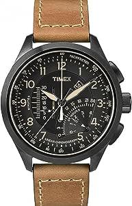 تي ميكس ساعة يد رجالية، انالوج بعقارب، جلد، T2P277
