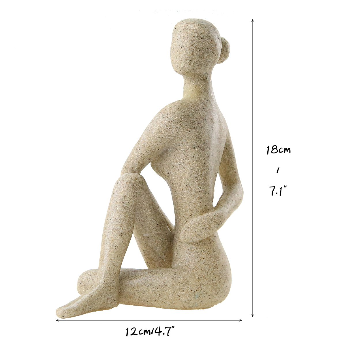 Estatua de Yoga Winterworm Adorno de Postura