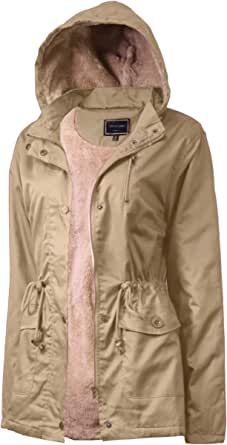 Anorak Jacket Women, Lightweight, Long Military Cargo Parka, Regular & Plus Size