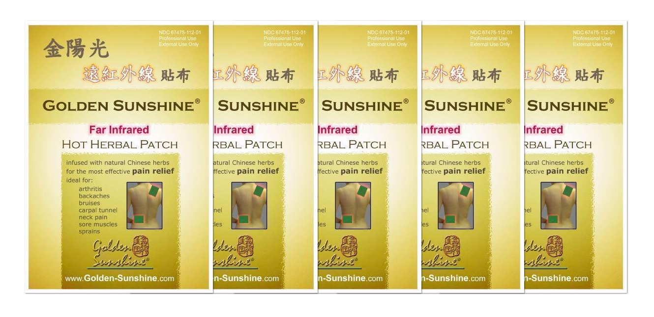 Golden Sunshine - Far Infrared Hot Herbal Patch - 5 Pack