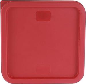 Caspian 6 and 8 Qt. Red Square Polycarbonate Food Storage Container Lid, 1 Piece (6、8QT Lid)