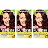Garnier Nutrisse Nourishing Hair Color Creme, 415 Soft Mahogany Dark Brown, 3 Count (Packaging May Vary)