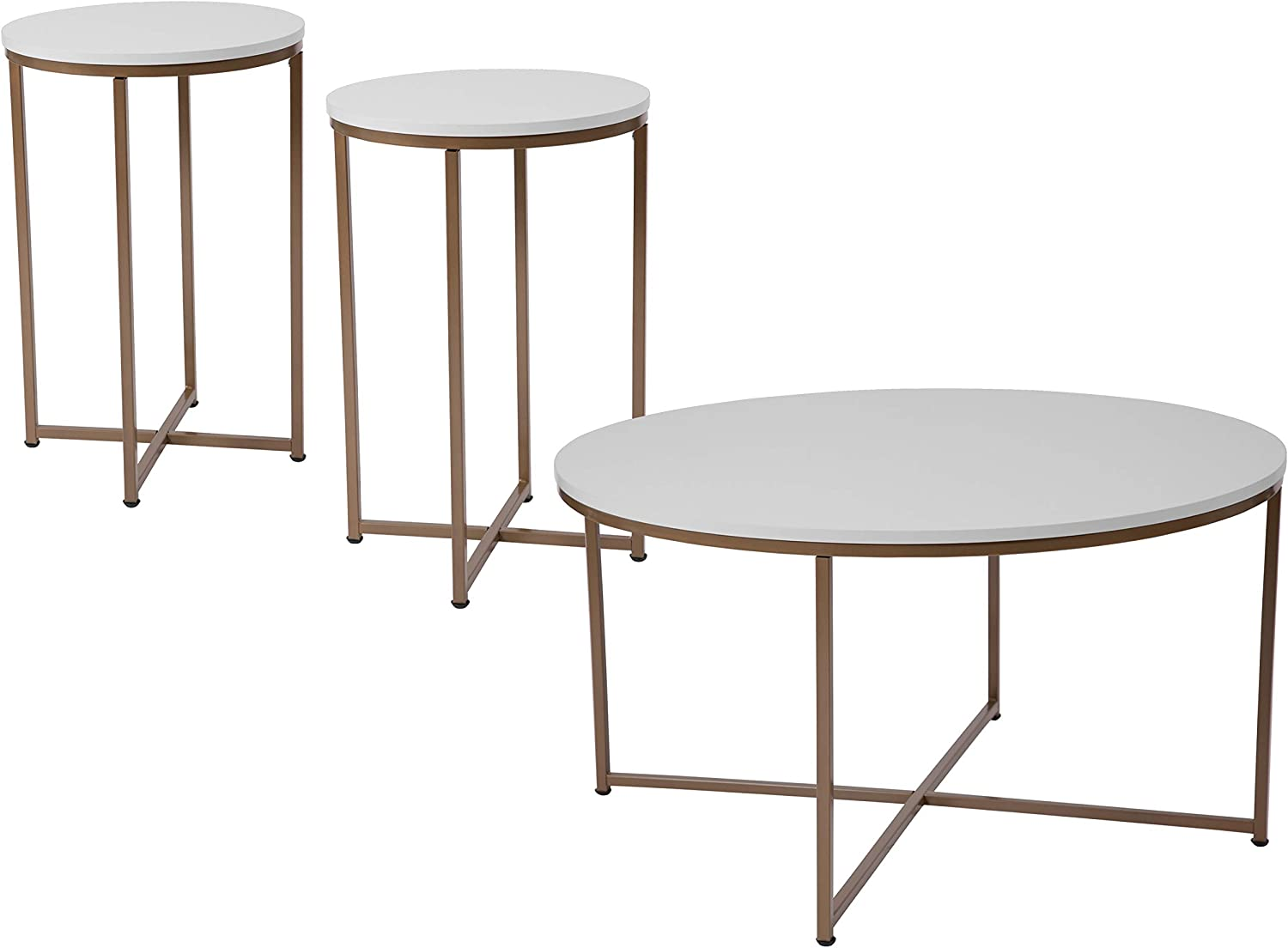 - Amazon.com: Flash Furniture Hampstead Collection 3 Piece Coffee