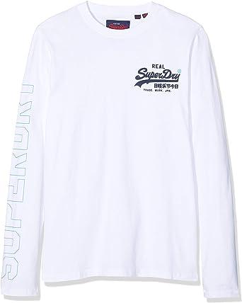 Superdry Crafted Check L//S tee Camisa Manga Larga para Hombre