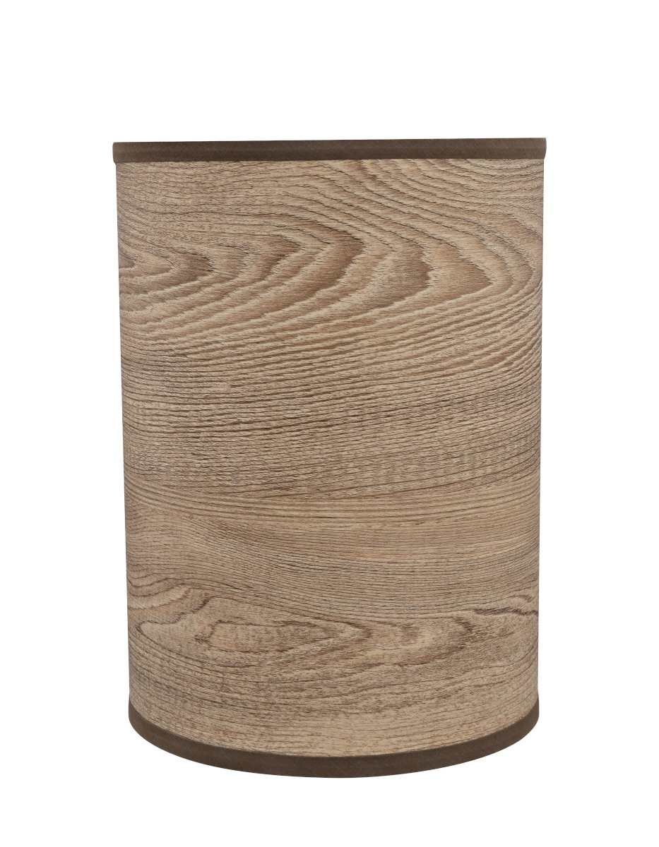Aspen Creative 31257 Transitional Drum (Cylinder) Shaped Spider Construction Lamp Shade 8'' Wide, 8'' x 8'' x 11'', Grain