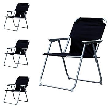 Lot De 4 Chaise Camping Pliante Plastique Oxfort Peche Regie