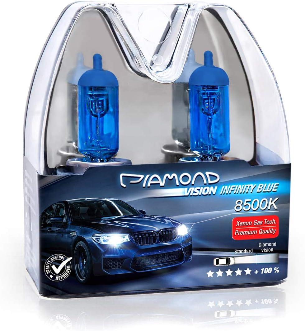 2x H4 60 55w Diamond Vision Xenon Look Effekt Halogen Lampen Birnen Licht Optik Super White 8500k Abblendlicht Fernlicht Kaltweiß White Vision Weißes Licht Hammer Motorrad Duobox P43t Auto