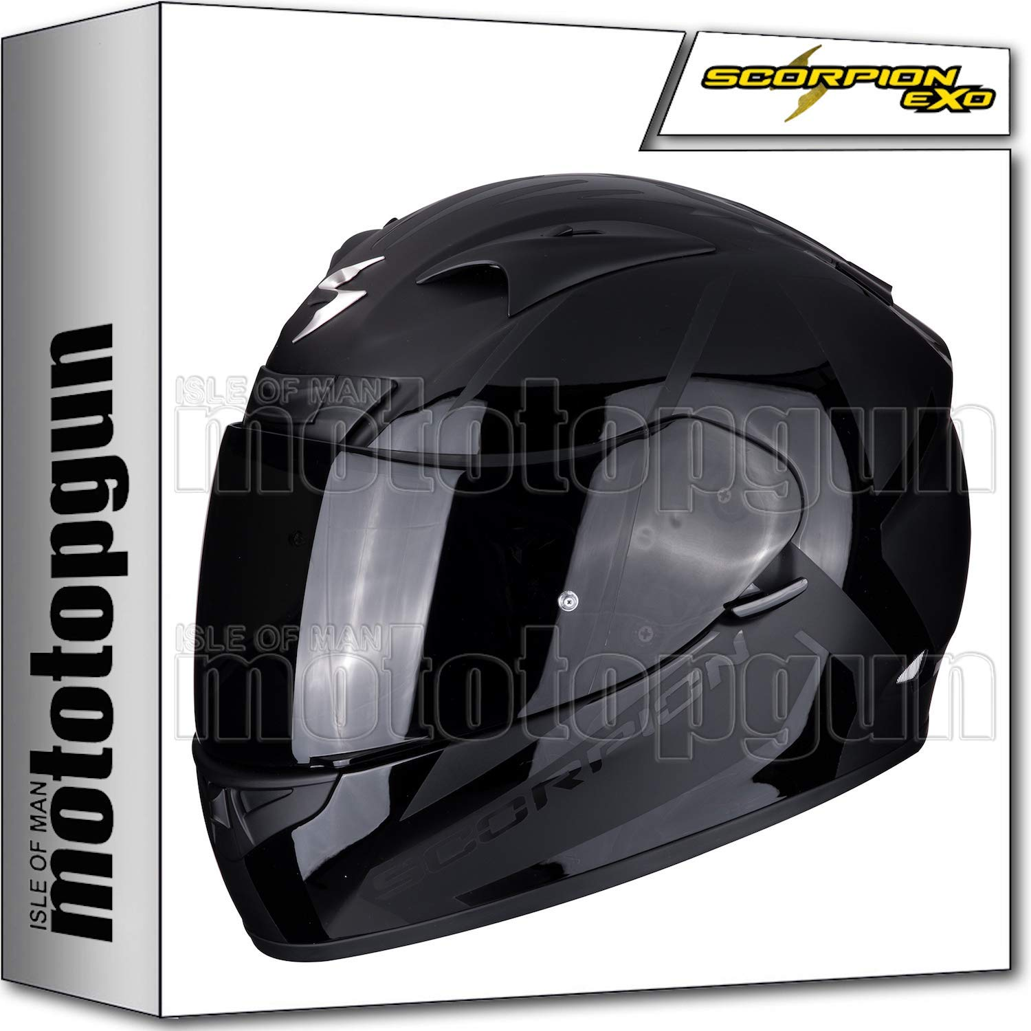 SCORPION 71-166-48 CASCO MOTO INTEGRAL EXO-710 AIR SPIRIT MATE NEGRO-NEGRO S