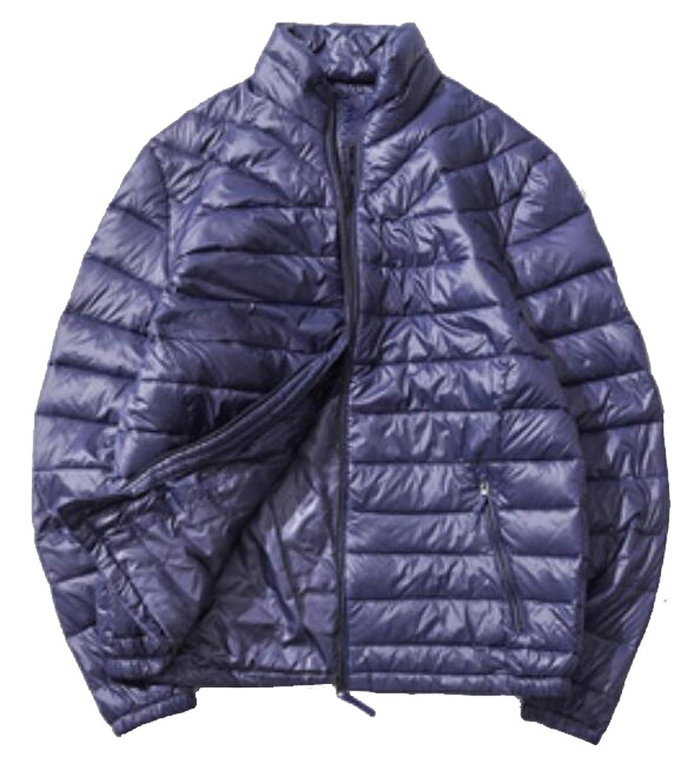 XQS Mens Puffer Jackets Warm Winter Quilted Hood Windbreaker Outdoor Coats