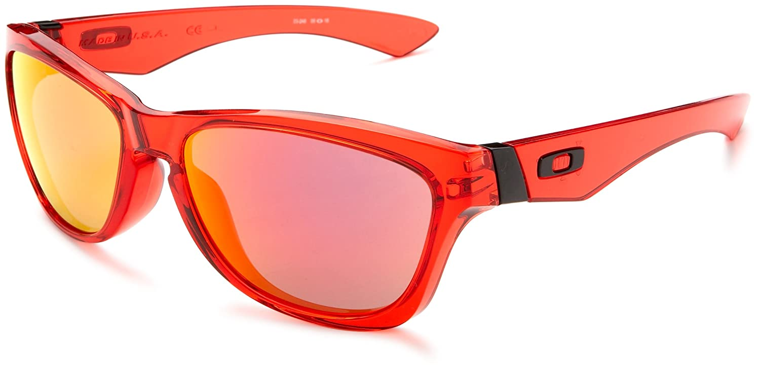 1f6d2853aed38 Oakley Crystal Red Jupiter Sunglasses With Ruby Iridium Lenses (03-248)   Amazon.co.uk  Sports   Outdoors
