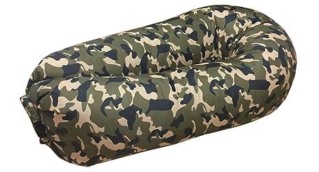 JD bolsa inflable tumbona sofá camas de aire de compresión saco de dormir camas colchones de aire Sillón hinchable portátil. Ideal para descansar ...
