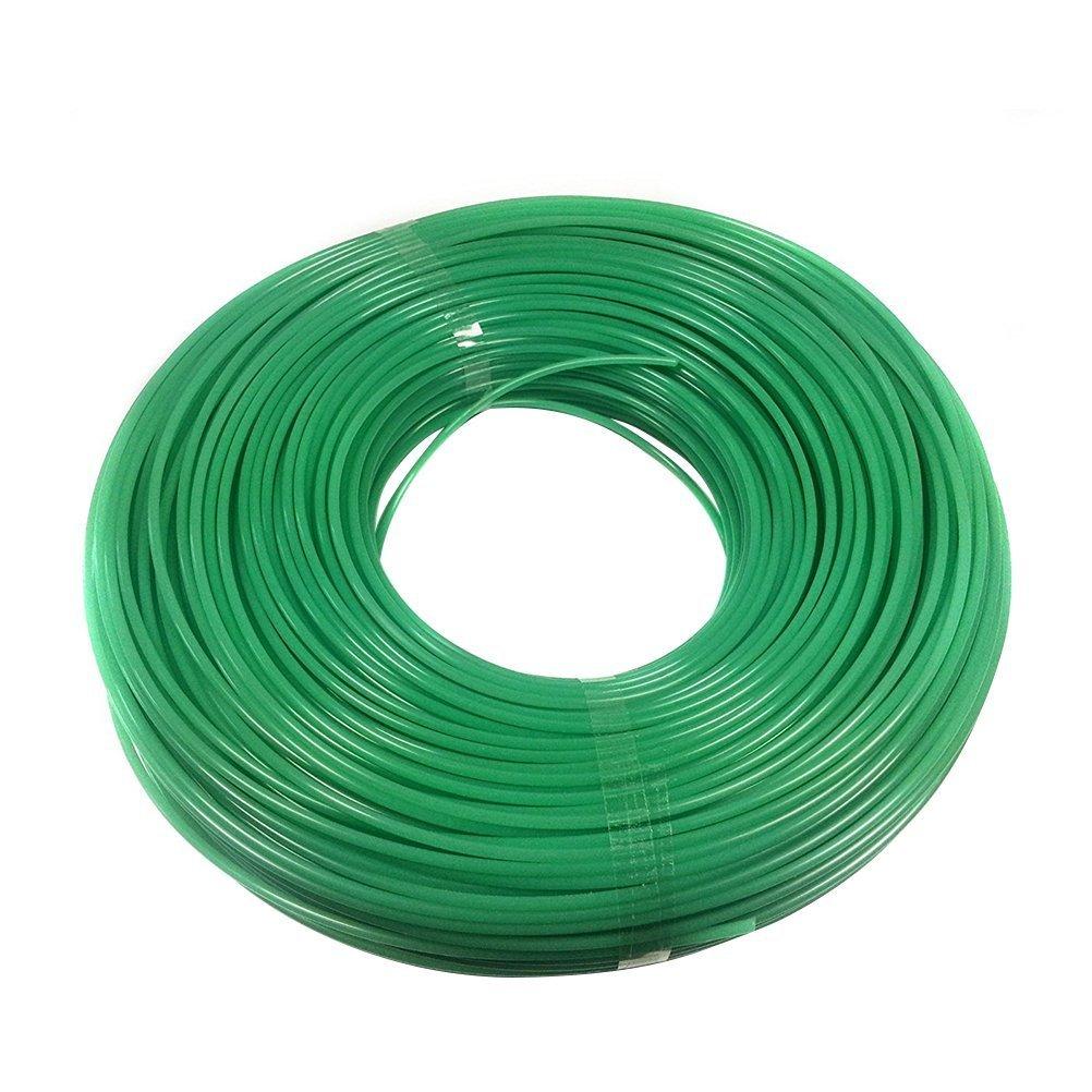 BESTOMZ Trimmer Strimmer Cord Line Nylon Round String Wire Garden Hedge Hand Grass Strimmer Refill 2mm 100M
