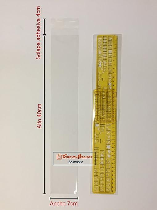 Bolsa de Polipropileno con Solapa Adhesiva de 7 x 40 cm (100 Unidades)