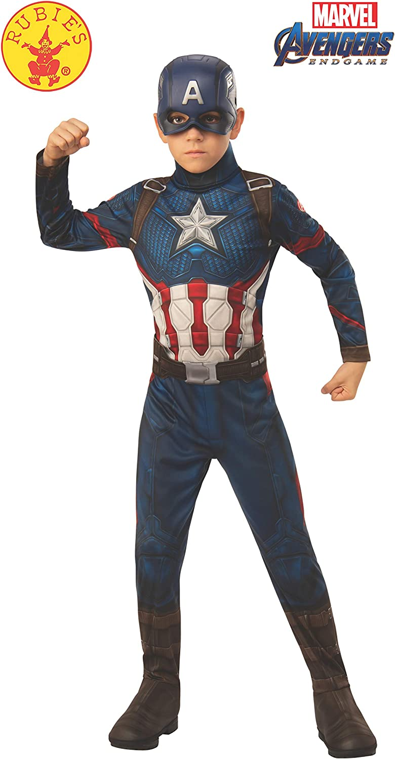 Amazon Com Rubie S Marvel Avengers Endgame Child S Captain America Costume Mask Toys Games Carol danvers has worn several costumes over the years as both ms. rubie s marvel avengers endgame child s captain america costume mask