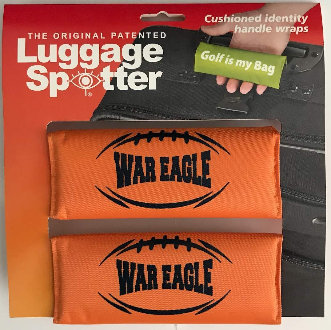 Luggage Spotter Auburn Tigers Auburn WAR Eagle Luggage Locator/Handle Grip/Luggage Grip/Travel Bag Tag/Luggage Handle Wrap 2-PK by Luggage Spotter