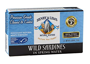 Henry & Lisa's Natural Seafood 4.25-oz Canned Sardines