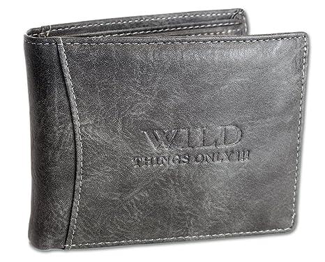 Wild Things Only - Cartera para hombre Hombre, gris oscuro (gris) - 1142