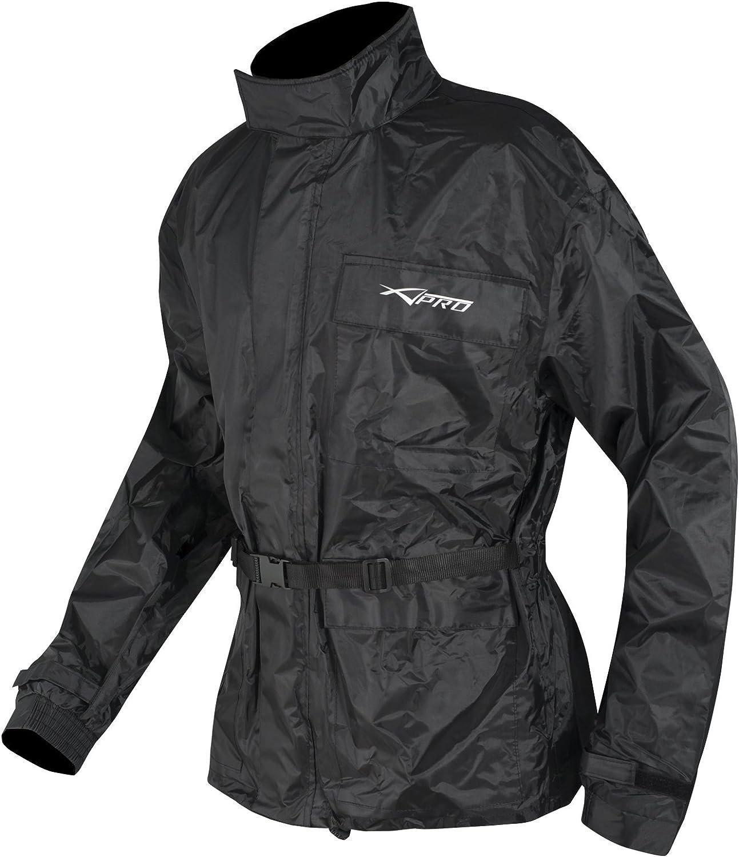 A Pro Motorrad Regenkombi Regenhose Regenjacke Wasserdicht Regenanzug Schwarz Xxl Bekleidung