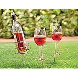 Soporte de botella y vaso, para camping y picnic