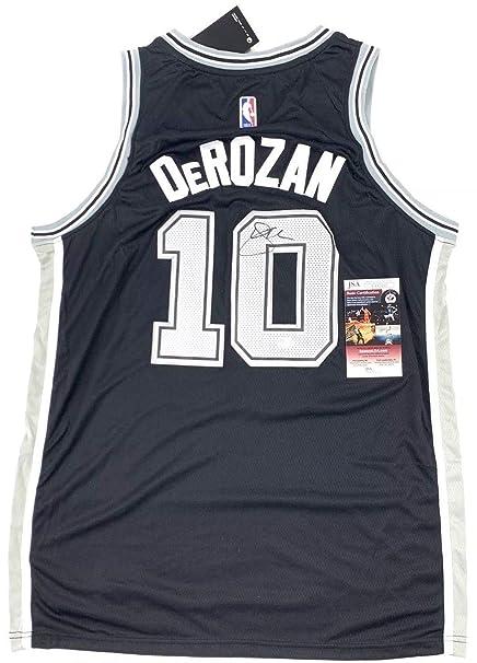 innovative design 80629 2e65a Demar Derozan Autographed Signed Jersey Nike Sewn San ...