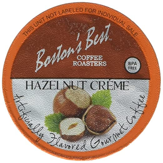 Bostons Best Coffee Roasters, Single Serve K-Cup Coffee, Hazelnut Creme, 42 Count (Compatible with 2.0 Keurig Brewers): Amazon.com: Grocery & Gourmet Food