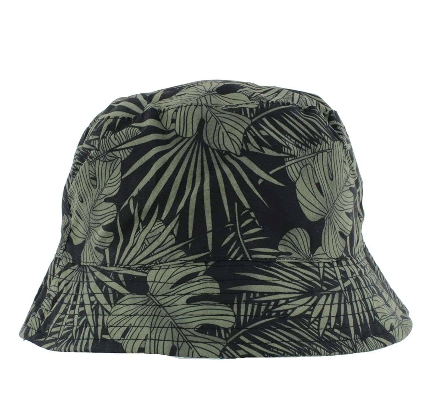 A1389 The Hat Company Ladies Summer Floral Bucket Hat Pale Blue or Pink
