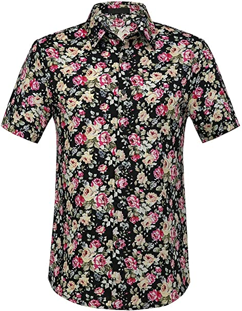 Amazon.com: THWEI Camisa hawaiana tropical de manga larga ...