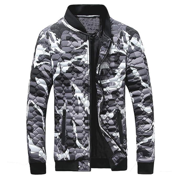 Amazon.com : Big Daoroka Mens Camouflage Jacket Coat Autumn Winter Long Sleeve Stand Collar Zipper Pockets Coat Outwear Blouse : Sports & Outdoors