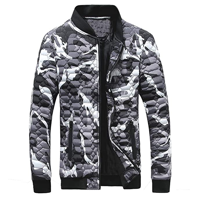 Longra Men Winter Camouflage Cotton Coat Thickening Printing Pullover Casual T-Shirt Top Blouse at Amazon Mens Clothing store: