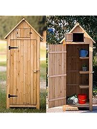70u201d garden storage shed fir 100 wooden shed with natural wood color