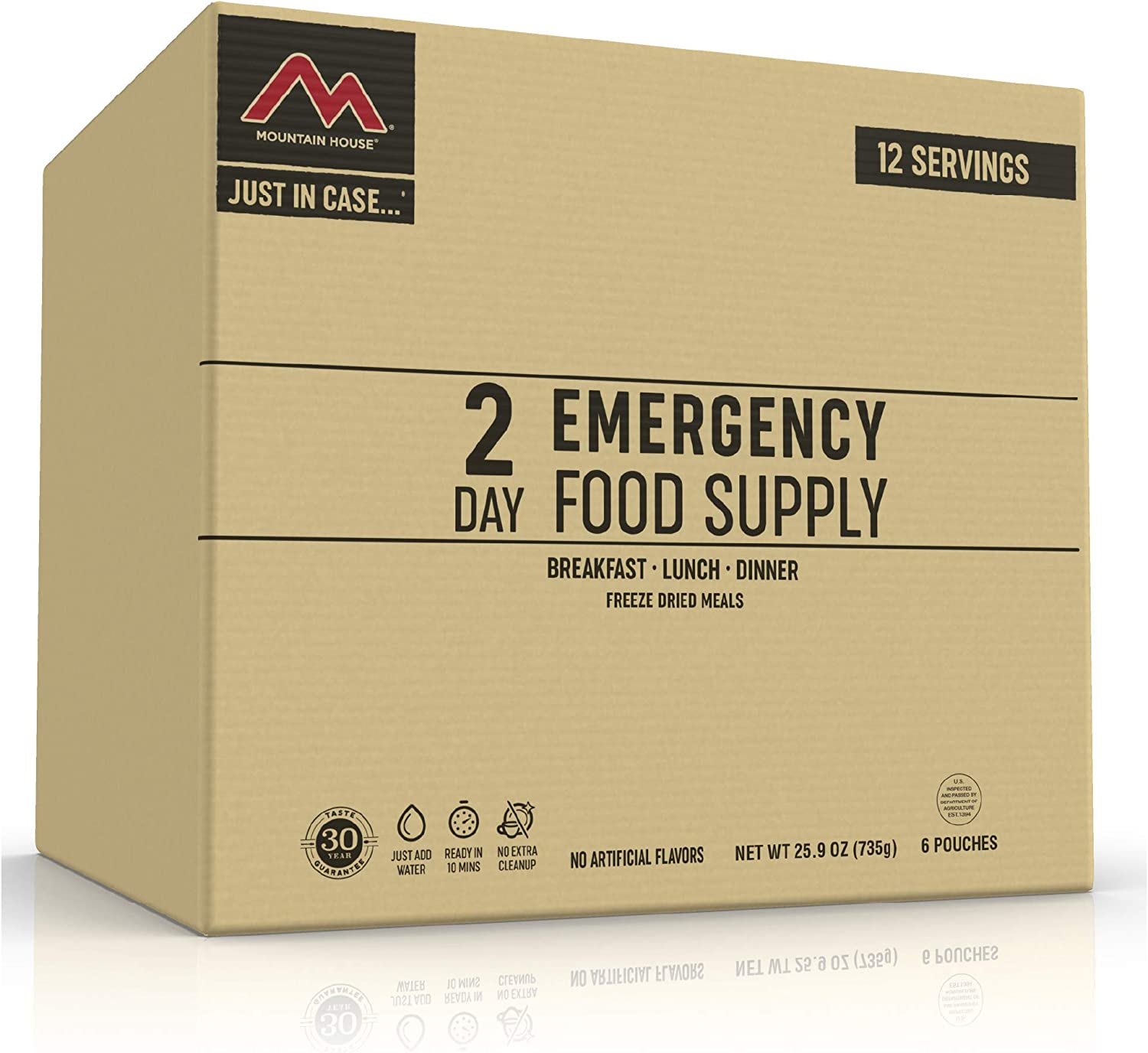 Mountain House 2-Day Emergency Food Supply | Freeze Dried Survival & Emergency Food | 12 Servings