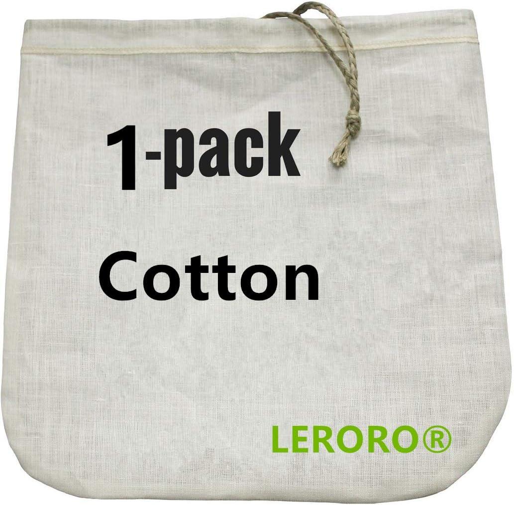 Reusable Cotton Nut Milk Bag Fine Mesh Filter Bag for Soy Coffee  Juice Soup