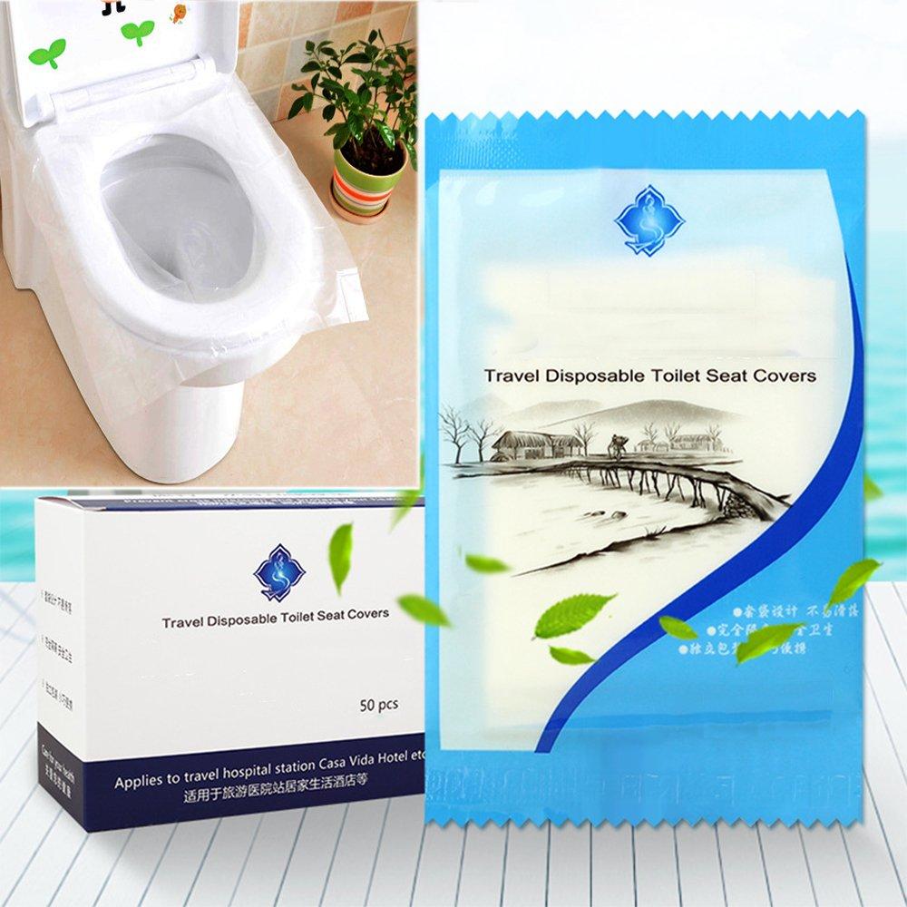 befitery viaggio impermeabile Disposable Toilet Cover WC Sedile di protezione Cuscini toilette Cuscini per occhiali occhiali di protezione anti batteri per hotel Outdoor viaggio universale per WC