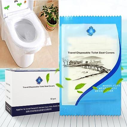 Cobertura desechable impermeable para asiento de inodoro de viaje Befitery protección de asiento de inodoro protección
