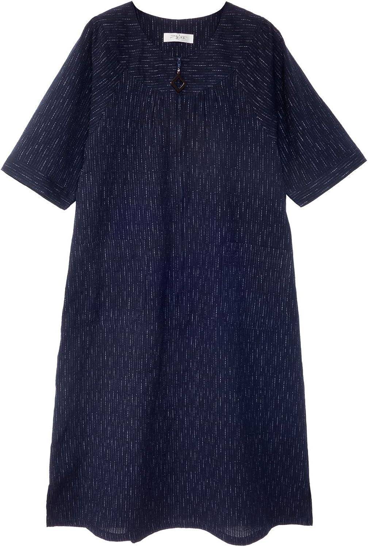 WATANOSATO Overseas parallel import regular item Cotton Crepe One-Piece Discount mail order Dress Made Siz Kurume by Japan