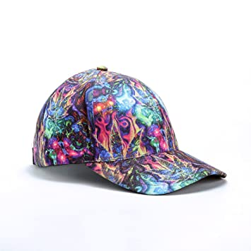 printed baseball caps uk custom cheap personalized in bulk ganja cannabis psychedelic hippie design full print hat hats