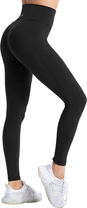 Coastal Rose Women S Yoga Pants Comfy Brushed 7 8 Length High Waisted Workout Leggings Sport Tights With Inner Pocket At Amazon Women S Clothing Store