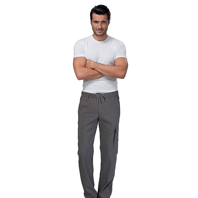 SIGGI - Pantaloni cuoco elasticizzati  quot Austin quot  in  poliestre cotone elastan. d2219561079a