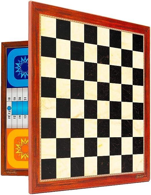 Fournier 521005 - Tablero Parchis/Ajedrez Extra 39X39 Cm: Amazon.es: Juguetes y juegos